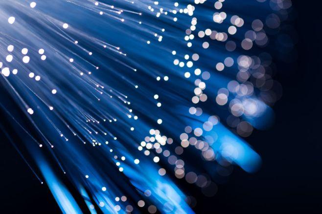 32102945 - blue fiber optic